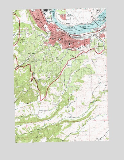 The Dalles South Or Topographic Map Topoquest