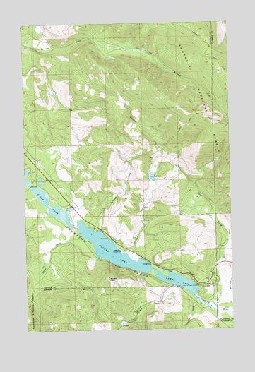 Thompson Lakes, MT Topographic Map - TopoQuest