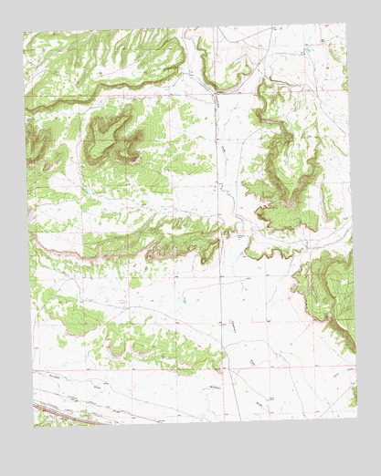 Thoreau NE, NM USGS Topographic Map