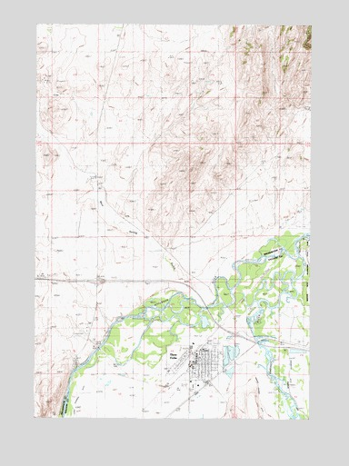 Three Forks, MT USGS Topographic Map
