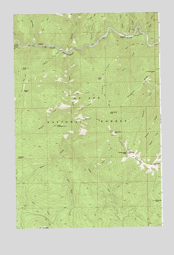 Three Sisters, ID USGS Topographic Map