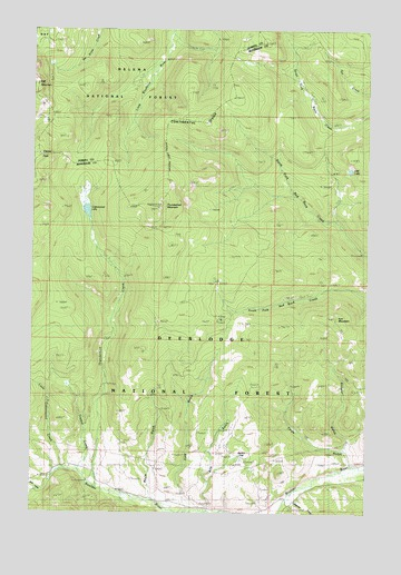 Thunderbolt Creek, MT USGS Topographic Map