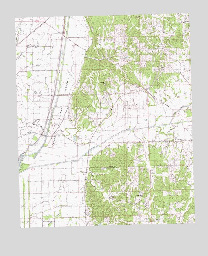 Tocowa, MS USGS Topographic Map