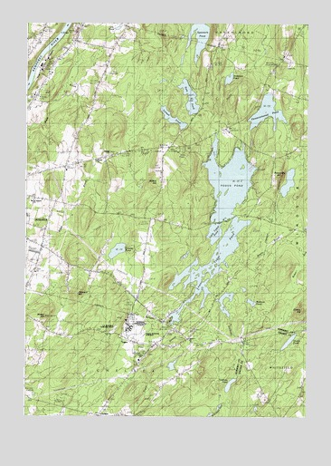 Togus Pond, ME USGS Topographic Map