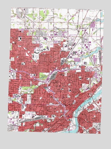 Topography Map Of Ohio.Toledo Oh Topographic Map Topoquest