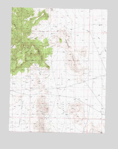 Topaz Mountain Utah Map.Topaz Mountain East Ut Topographic Map Topoquest