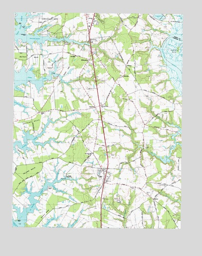 Trappe, MD USGS Topographic Map
