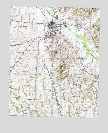 Trenton Tn Topographic Map Topoquest