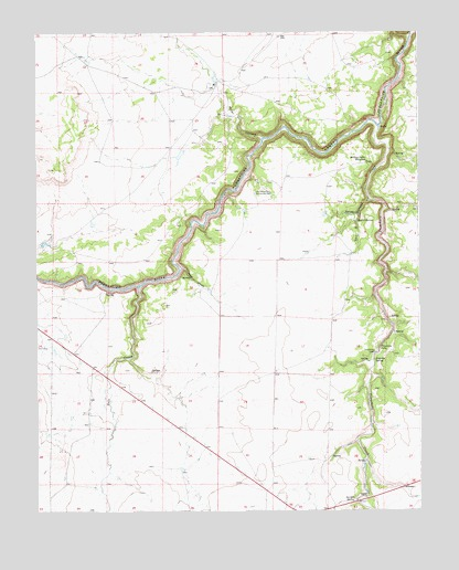 Purgatoire Canyon, CO USGS Topographic Map