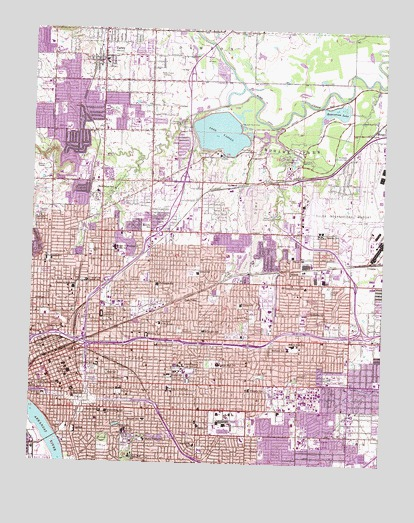 Tulsa, OK Topographic Map - TopoQuest