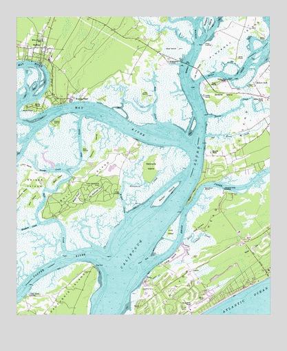 Map Of Bluffton South Carolina Bluffton, SC Topographic Map   TopoQuest