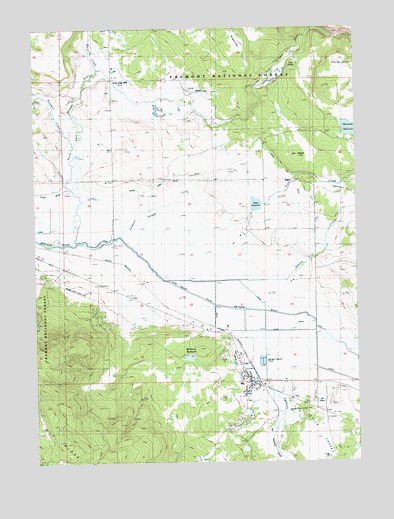 Bly, OR USGS Topographic Map