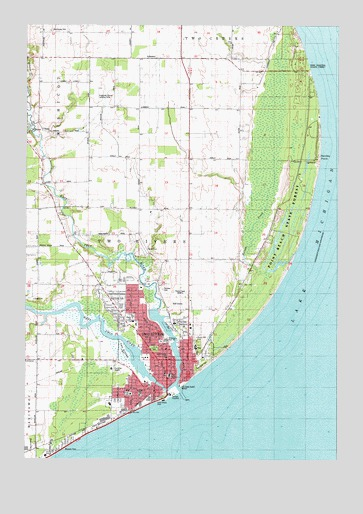 Two Rivers WI Topographic Map  TopoQuest