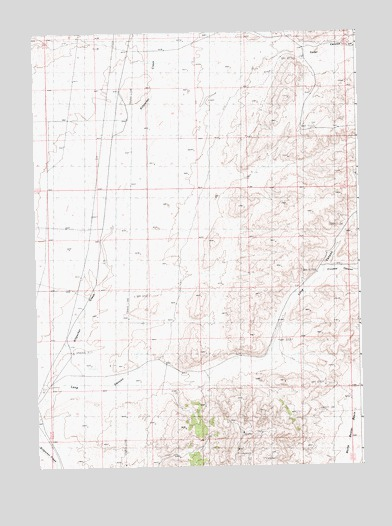 Boars Tusk SW, WY USGS Topographic Map