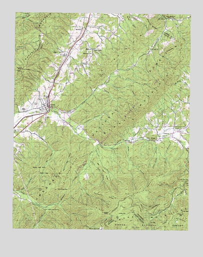 Unicoi, TN USGS Topographic Map