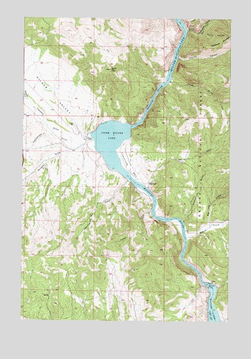 Upper Holter Lake, MT USGS Topographic Map
