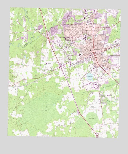 Valdosta GA Topographic Map TopoQuest - Georgia map valdosta