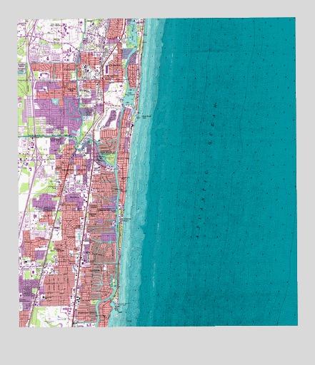 Map Of Boca Raton Florida.Boca Raton Fl Topographic Map Topoquest