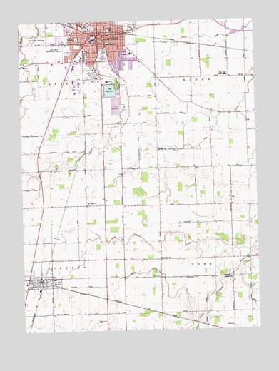 Van Wert Oh Topographic Map Topoquest