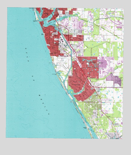 Map Of Venice Florida.Venice Fl Topographic Map Topoquest