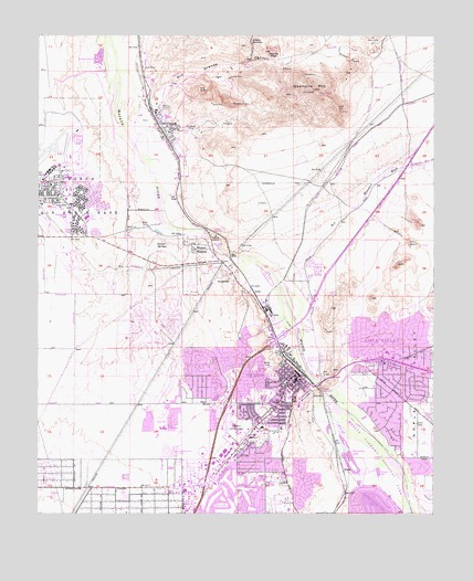 Victorville Ca Map Victorville, CA Topographic Map   TopoQuest Victorville Ca Map