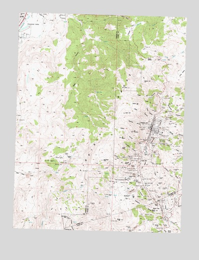 Virginia City, NV USGS Topographic Map