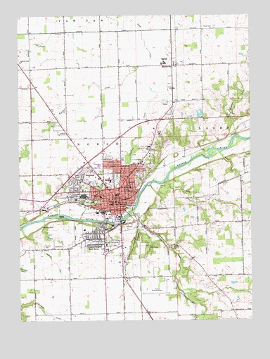 Wabash, IN USGS Topographic Map