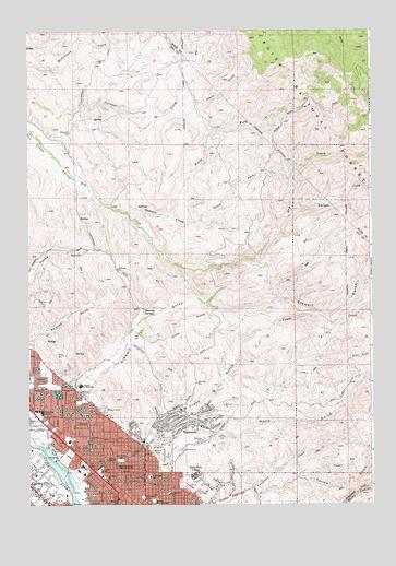 Boise North, ID Topographic Map - TopoQuest