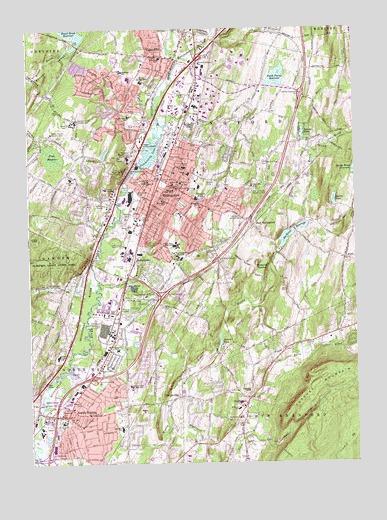 Topographic Map Ct.Wallingford Ct Topographic Map Topoquest