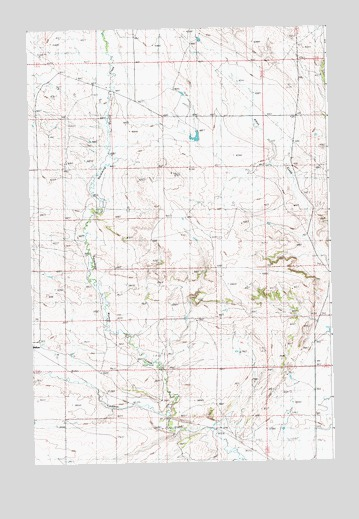 Wallum, MT USGS Topographic Map