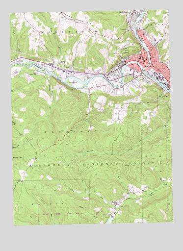 Warren Pa Topographic Map Topoquest