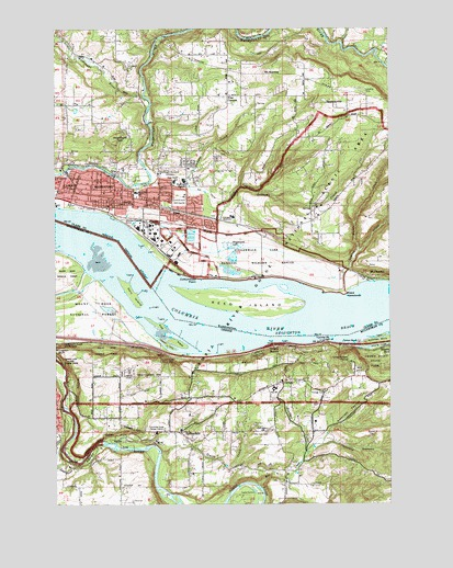 Washougal, WA USGS Topographic Map