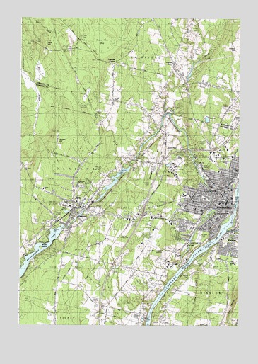 Waterville Me Topographic Map Topoquest
