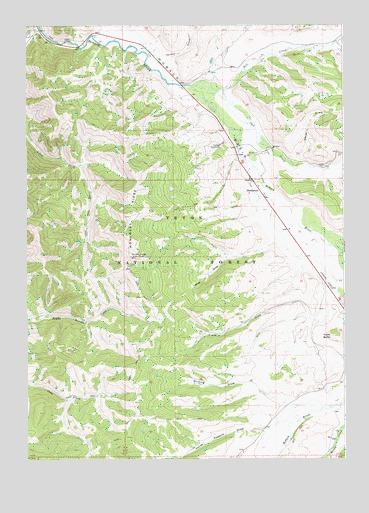Bondurant Wyoming Map.Bondurant Wy Topographic Map Topoquest
