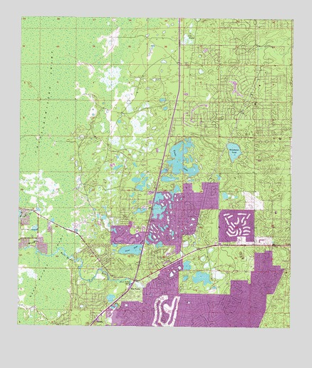 Weeki Wachee Spring Fl Topographic Map Topoquest