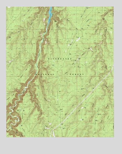 Weimer Point, AZ USGS Topographic Map