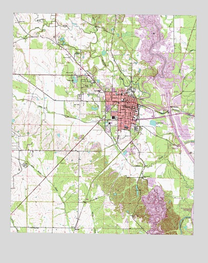 Aberdeen, MS Topographic Map - TopoQuest