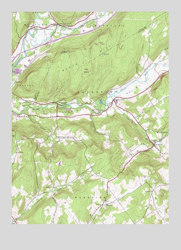 West Davenport, NY USGS Topographic Map