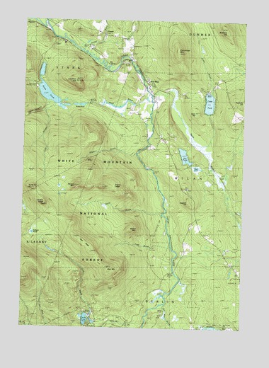 West Milan, NH USGS Topographic Map