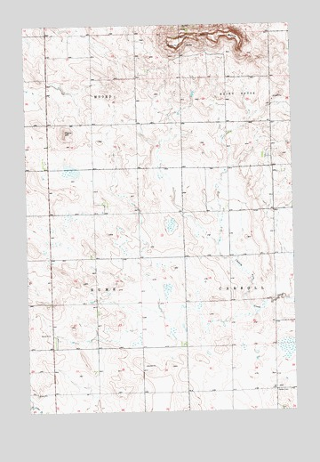 West Rainy Butte, ND USGS Topographic Map