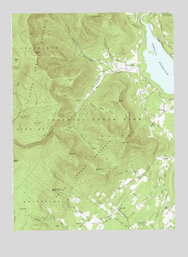 West Shokan, NY USGS Topographic Map