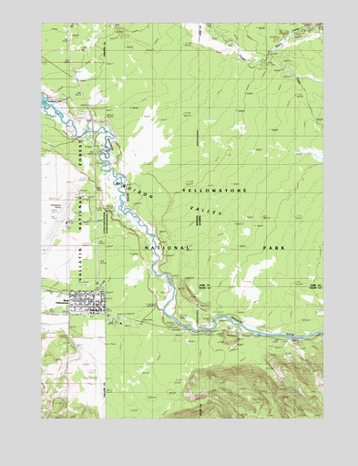Topographic Map Of Yellowstone.West Yellowstone Mt Topographic Map Topoquest