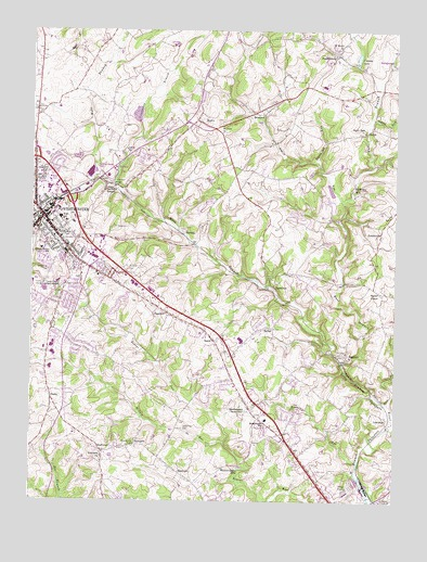 Westminster, MD Topographic Map - TopoQuest