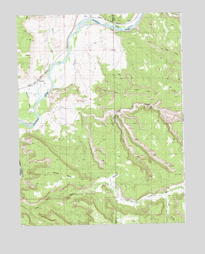 Westwater, UT USGS Topographic Map