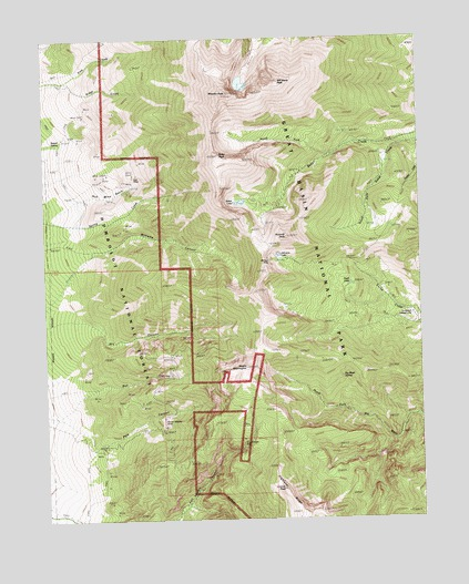 Wheeler Peak, NV USGS Topographic Map
