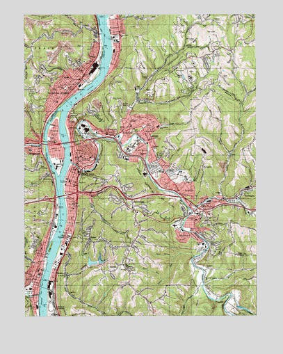 Wheeling, WV Topographic Map - TopoQuest on map of seneca rocks wv and surrounding area, map of ohio and west virginia, map of wheeling west virginia showing, map of triadelphia wv,