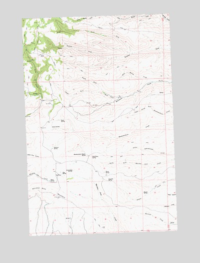 Whiskey Dick Mountain, WA USGS Topographic Map