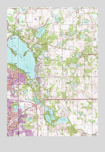White Bear Lake East, MN Topographic Map - TopoQuest
