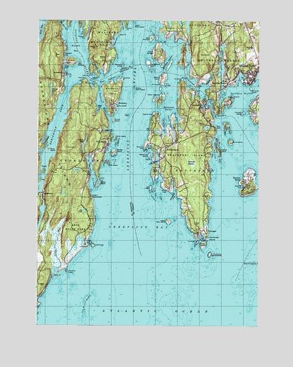 Boothbay Harbor Me Topographic Map Topoquest