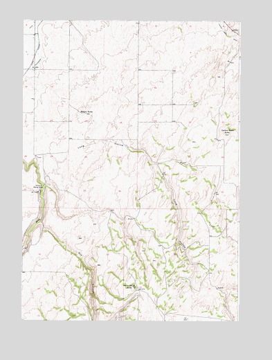 White Owl Butte, ID USGS Topographic Map